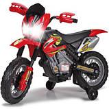 Детский электромобиль Мотоцикл аккумулятор 6V  FEBER Motocykl Na Akumulator Cross 12223, фото 3