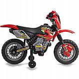 Детский электромобиль Мотоцикл аккумулятор 6V  FEBER Motocykl Na Akumulator Cross 12223, фото 4