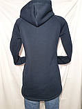 Женская кофта на молнии с капюшоном, фото 3