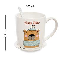 Чашка фарфоровая Медведь 300 мл MUG-231/2