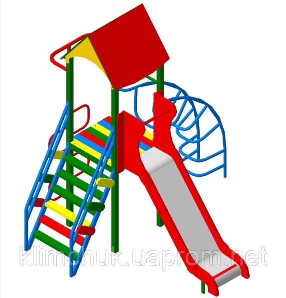 Ігровий комплекс висота гірки 1,2 м для дитячих ігрових майданчиків KidSport