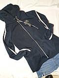 Женская кофта на молнии с капюшоном, фото 4