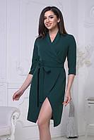 S, M, L / Коктейльне темно-зелене плаття на запах