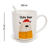 Чашка фарфоровая Медведь 300 мл MUG-231/3