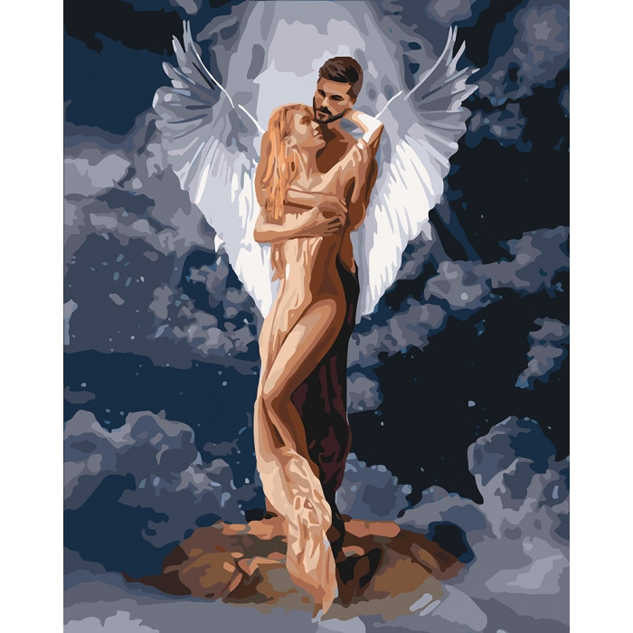Картина по номерам Ти мій янгол 40x50см КНО4665 Идейка