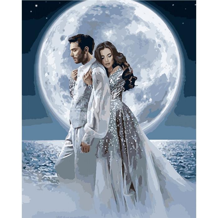 Картина по номерам Под лунным сиянием 40x50см КНО4552 Идейка