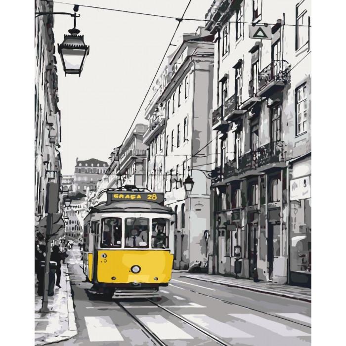 Картина по номерам Жёлтый трамвайчик 40x50см КНО2187 Идейка