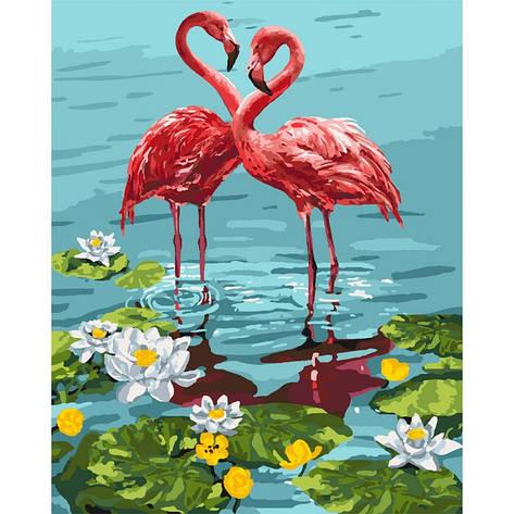 Картина по номерам Пара фламинго 40x50см КНО4144 Идейка, фото 2