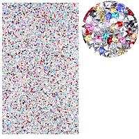 Коврик для маникюра силиконовый со стразами, разноцветный