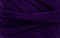 Шерсть для валяния австралийский меринос 23 микрон (10 грамм = 25 см) - Баклажан. Фелтинг. Вовна