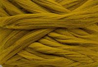 Шерсть для валяния австралийский меринос 23 микрон (10 грамм = 25 см) - Горчица. Фелтинг. Вовна