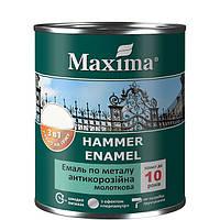 """Эмаль молотковая, темно-коричневая антикоррозийная по металлу 3в1 ТМ """"Maxima"""" - 2.3 кг"""