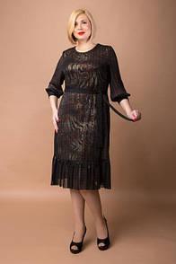 Вечернее платье с леопардовым узором