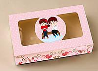 Коробка для пряников с прозрачной крышкой 20*11,5*5 см Галетте - 06932