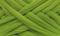 Шерсть для валяния австралийский меринос 23 микрон (10 грамм = 25 см) - Фисташковый. Фелтинг. Вовна