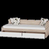 Кровать Соната-800 с выдвижными ящиками  (1932х836х605)