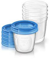 Контейнеры для хранения грудного молока Avent 5x180мл SCF619/05