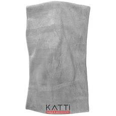 24127 Повязка для волос KATTi чалма велюровая ширина 13см серая, фото 2