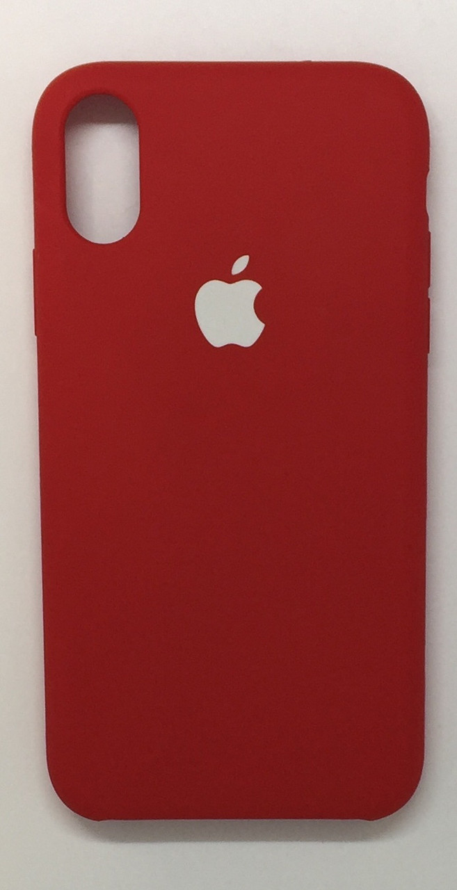 "Чехол Silicon iPhone X - ""RED  №33"""