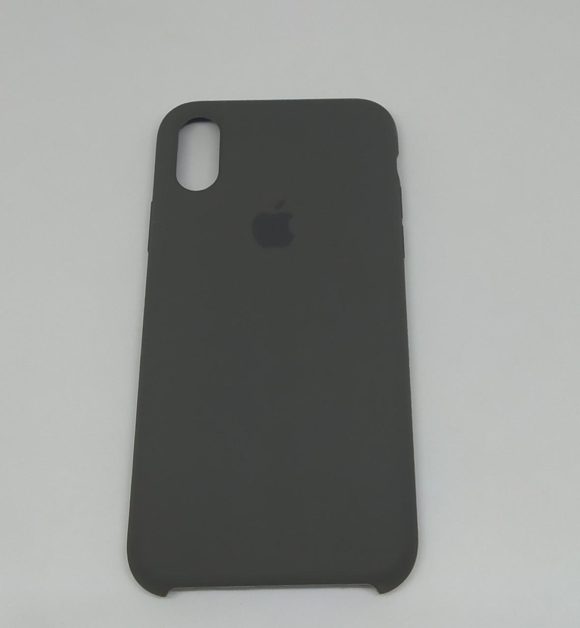 "Чохол Silicon iPhone X - ""Темна олива №34"""