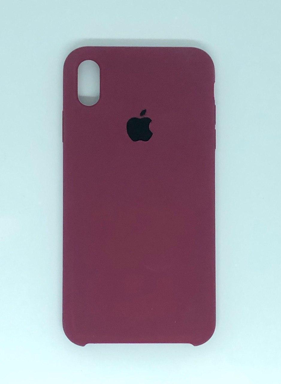 """Чехол Silicon iPhone X - """"Марсала №52"""""""
