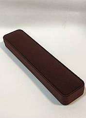 Футляр для браслета, цепочки широкий коричневый бархатный 0628