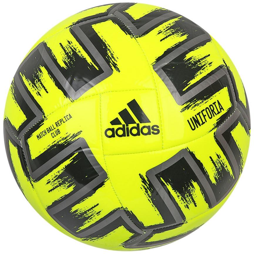 Мяч футбольный Adidas Uniforia Club Euro 2020 №5 FP9706 Желтый (4062054553402)