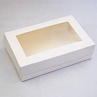 Коробка с окном для эклеров, зефира, печенья и десертов 230*150*60 мм, фото 1