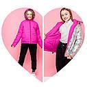 Демисезонная двухсторонняя куртка для девочки подростка vkd-24 Размеры 134 140 164, фото 9