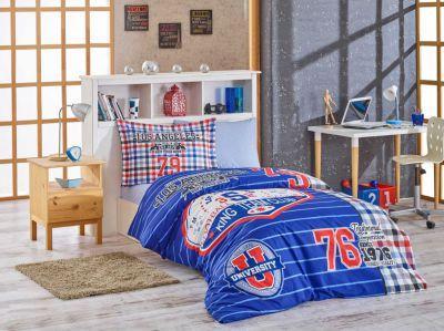 Подростковое постельное белье HOBBY Poplin College синий