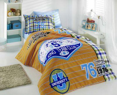 Подростковое постельное белье HOBBY Poplin College желтый