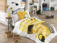 Подростковое постельное белье HOBBY Poplin Love Music желтый