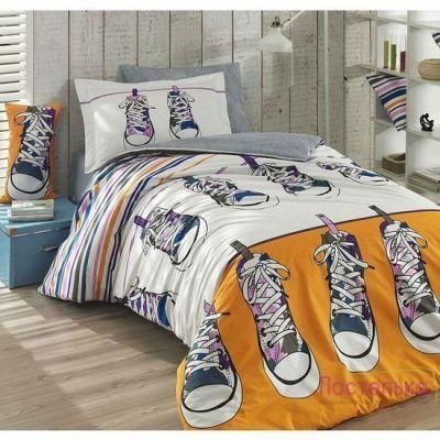 Подростковое постельное белье HOBBY Poplin Layla желтый