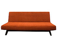Чехол Для Дивана Без Подлокотников (Клик-Кляк) Универсальный Из Качественной Натуральной Ткани Производства Испании цвет Оранжевый