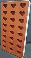 Силиконовая форма для мармелада сердечки 24 шт. Silikomart Италия - 06034