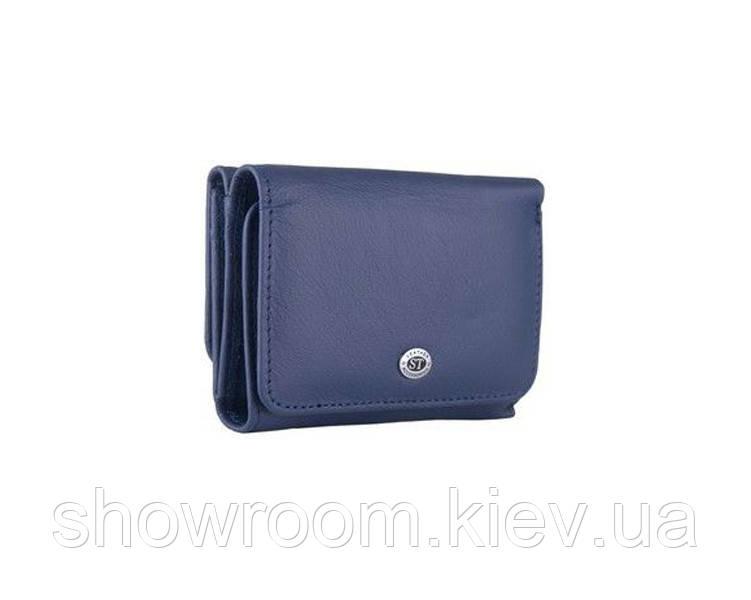 Недорогой женский кожаный кошелек (4401) синий