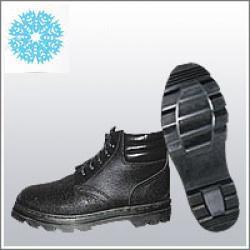 Ботинки рабочие юфтевые ВФ утепленные (Мех) мягкий кант Бортопрошивные черные