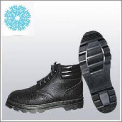 Ботинки рабочие юфтевые ВФ утепленные (Мех) мягкий кант Бортопрошивные черные, фото 2