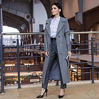"""Модное женское весеннее пальто """"Торонто"""", серый"""