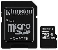 Карта памяти  MicroSD 16 Gb class 10 Kingston
