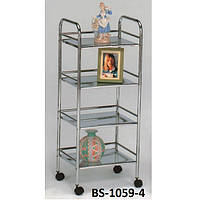 Сервировочный столик-тележка Onder Metal BS-1059-4 Хром