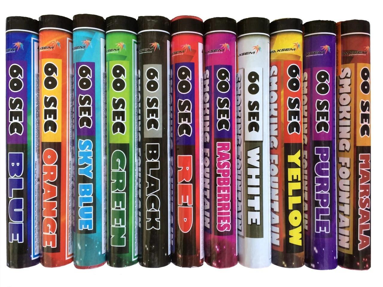 Цветной дым 60 сек / 11 Цветов MA0512 / mix