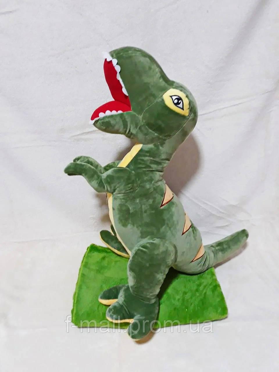 Плед мягкая игрушка 3 в 1  Динозавр зеленый (16)