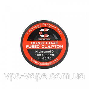 Катушка Coilology Quad Core Fused Clapton Wire, фото 2