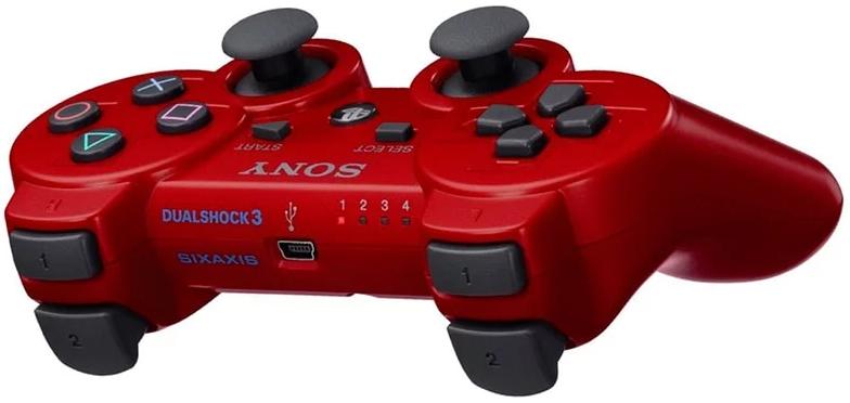 Джойстик для сони плейстейшен 3 / PS3 цвет красный, фото 2