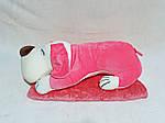 Плед мягкая игрушка 3 в 1 Собака розовая (18), фото 2