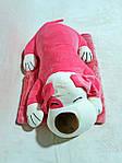Плед м'яка іграшка 3 в 1 Собака рожева (18), фото 3