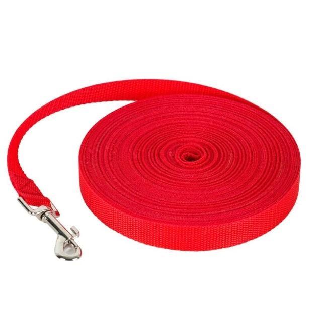 Нейлоновий ремінець для собак, червоний