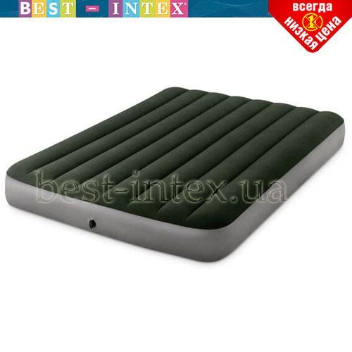 Надувной матрас Intex 64763 (152 x 203 x 25 см) Двухспальный + встроенный ножной насос