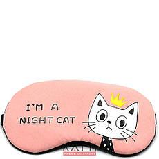 24301 повязка для сна KATTi Creative CATs розовая с кошкой, фото 2